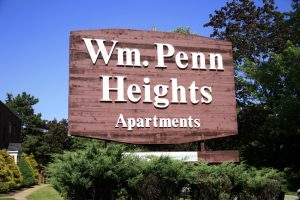 wm penn apartment sign
